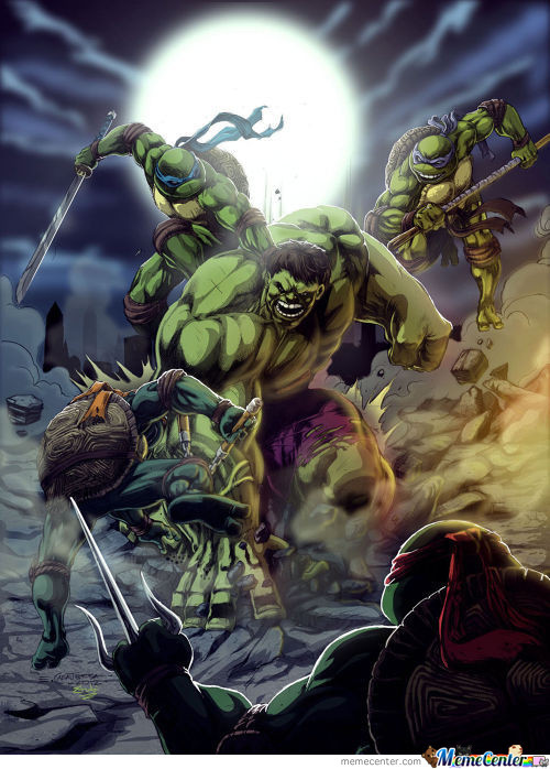 Hulk Vs Ninja Turtles