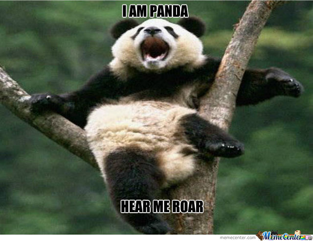 I Am Panda Hear Me Roar