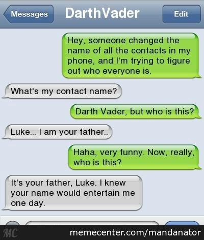 I Am Your Father..