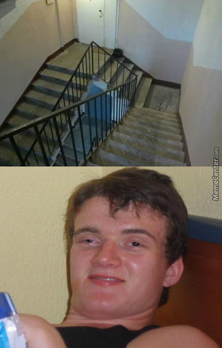 I'll Take The Stairs, They'll Get Me High