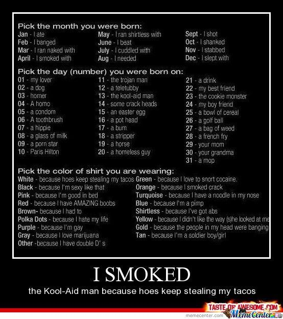 I Ate A Mop Because I Love Marijuana