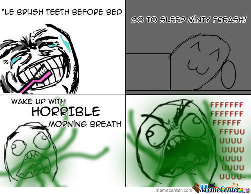 I Blame The Toothpaste.