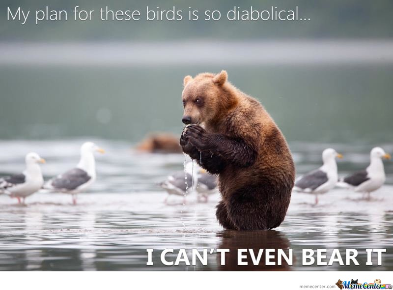 I Cannot Bear It