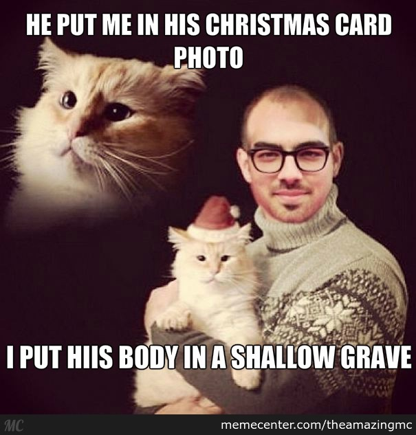 I Didn't Even Make This Photo, This Is An Actual Christmas Card Made By Joe Jonas