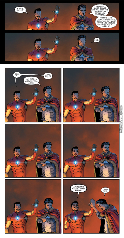 I Don't Have Awesome Facial Hair. :(  [Source:invincible Iron Man #3]