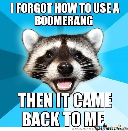 I Forgot How To Use A Bommerang.....