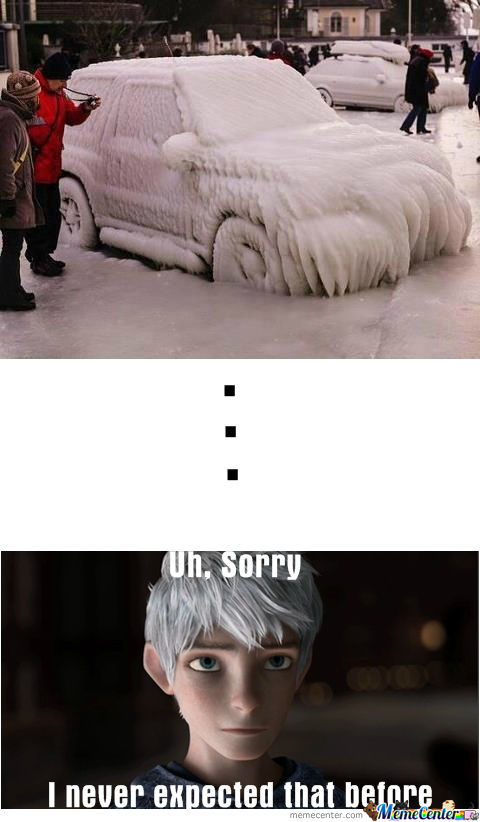 I Guess Jack Frost Just Cum