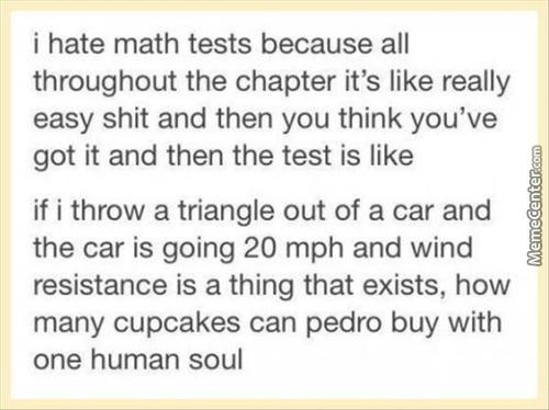 I Hate Math Tests