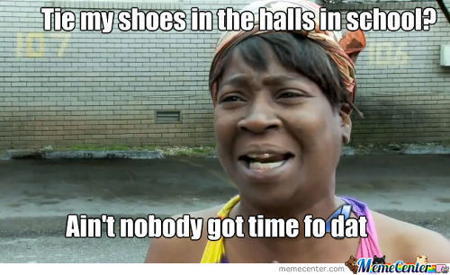 I Hate When This Happens And The Halls Are Crowded..