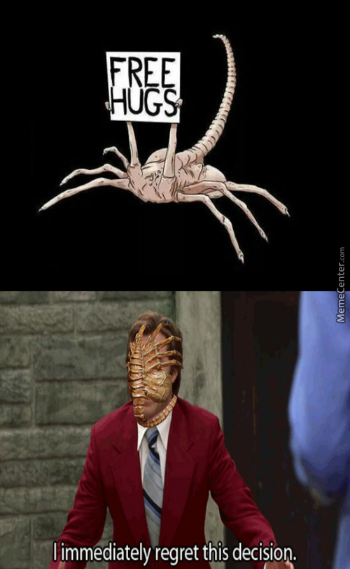 I Iz A Friendly Facehugger, Plz Don't Run
