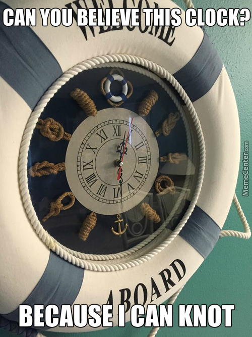 I Just Got Back From The Beach. There Was A Funny Clock In The Condo I Was In.