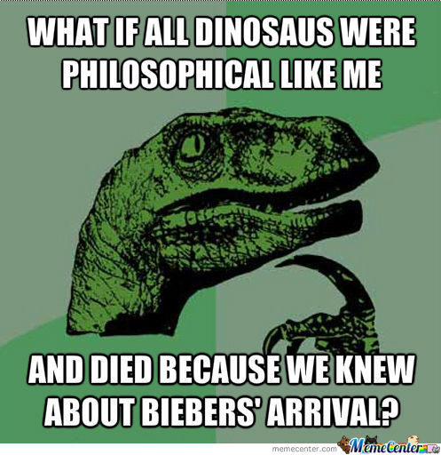 I Knew That Dinos Weren't Just A Bunch Of Meat...
