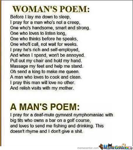 I Like The Second Poem Best.