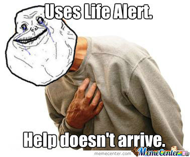 I Live Alone, But I'm Never Alone. I Have Life Alert.