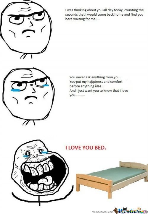 I Love You Bed !