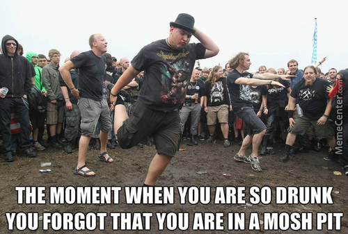 I´m Caught In A Mosh