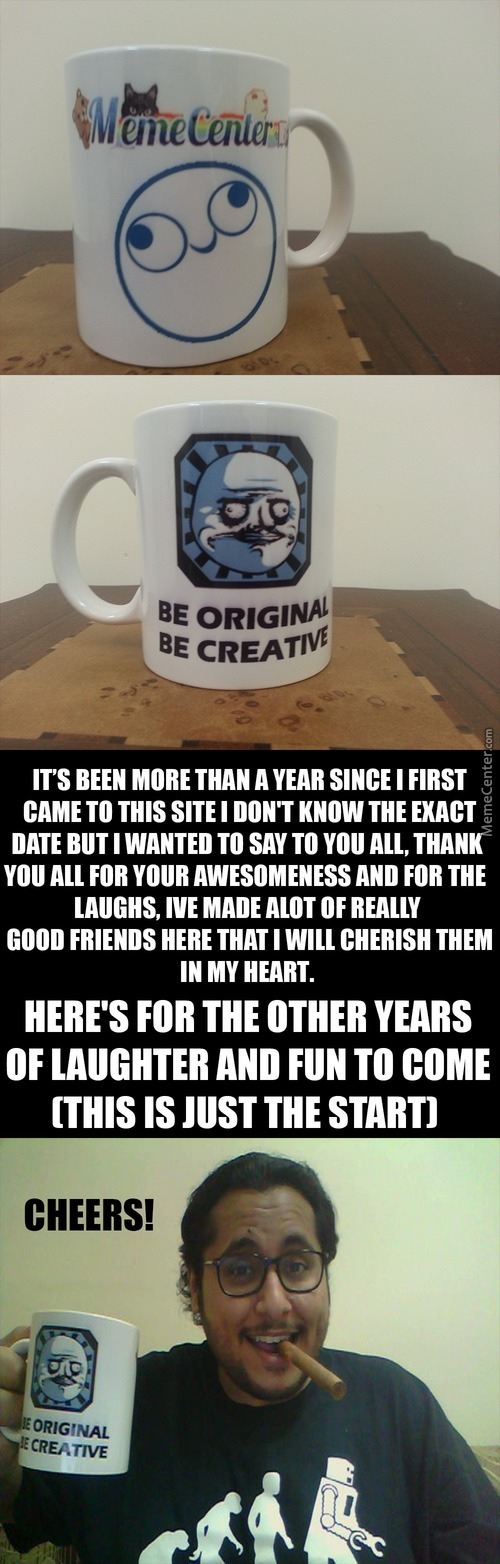 I Made A Memecenter Mug For You All As A Thank You :)