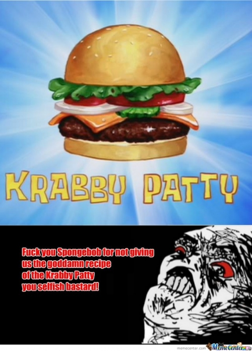 I never wanted a Krabby Patty that much