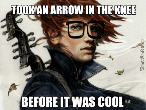 "I Realise The Arrow Joke Is Kinda Old But The Other Day I Was Reading ""the Name Of The Wind"" And It Was Right There"