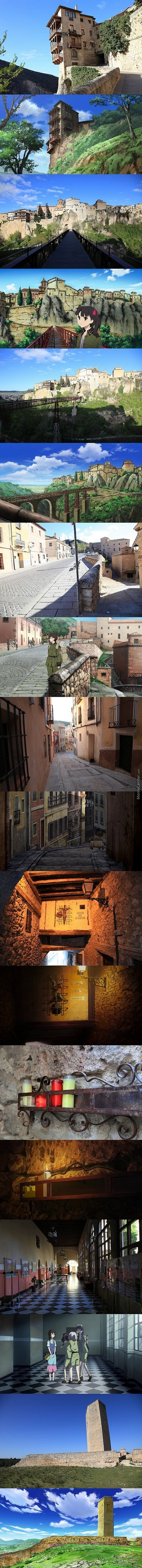 I Respect An Anime That Puts Tought Into It's Art. ( Comparison Of The Town Of Seize From Sora No Woto, And Cuenca, Spain)