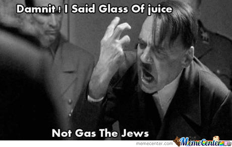 I Said A Glass Of Juice Not Gas The Jews.!!