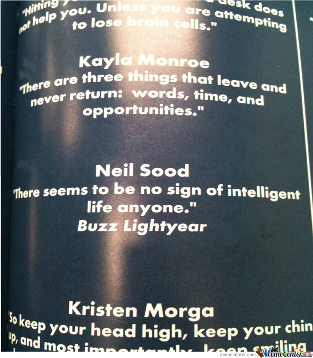 I Saw This Boss Quote In My Yearbook