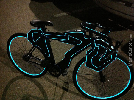 I See Your Tron Lambo And Raise You A Tron Bicycle