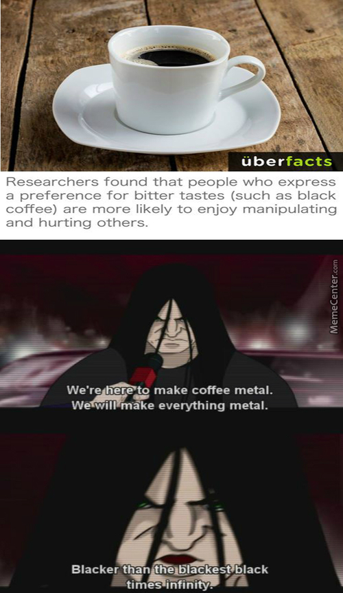 I Take My Coffee Black With 6 Spoons Of Salt
