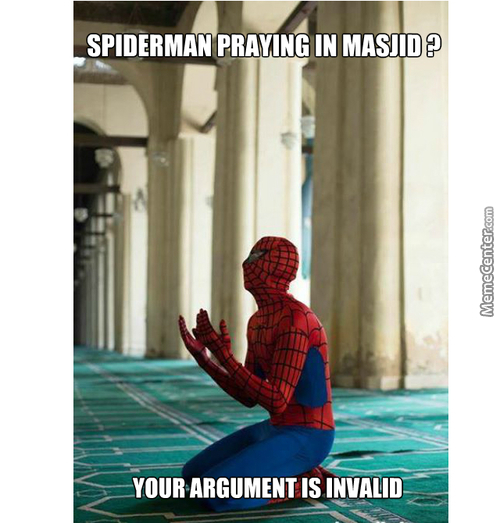 I Think Spiderman Is Orginaly A Muslim (͡° ͜ʖ ͡°) - Grabs Popcorn