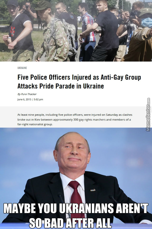 I Think The Russians And The Ukrainians Has Finally Found Some Common Ground
