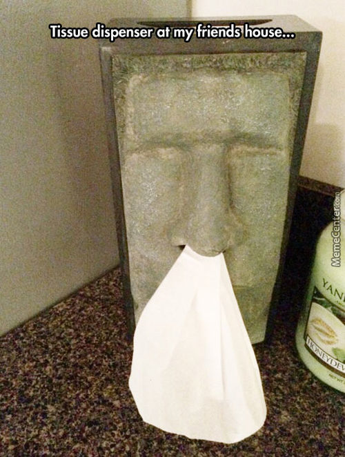 I Want This Tissue Dispenser