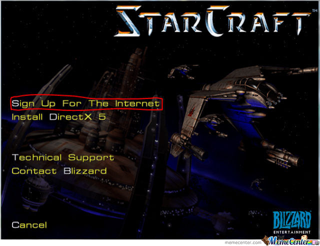 I Was Installing The Old Starcraft For Nostalgia.....