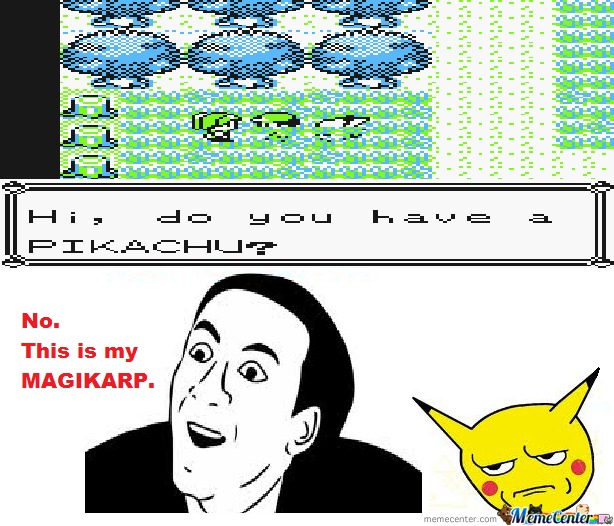 I Was Playing Pokémon Yellow, And......