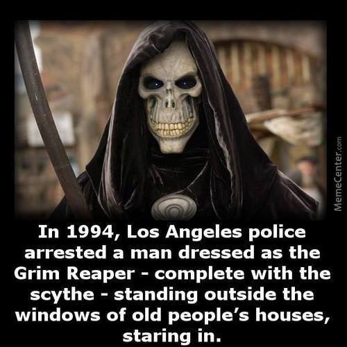 I Would Like To Have Grim Reaper At My Funeral, Just Standing And Saying Nothing
