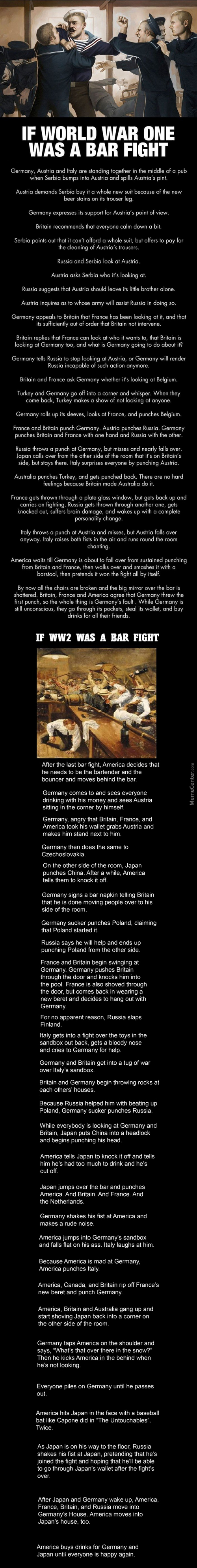 If The World Wars Were Bar Fights