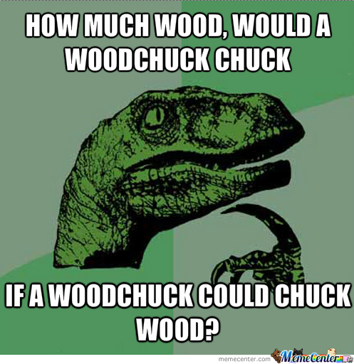 If A Woodchuck Could Chuck Wood? by laladone - Meme Center