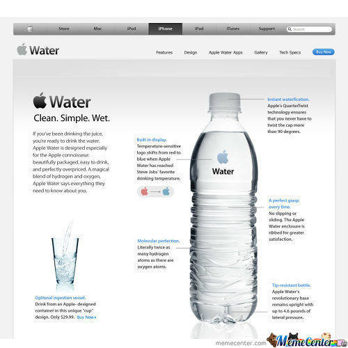 If Apple Mad Water...