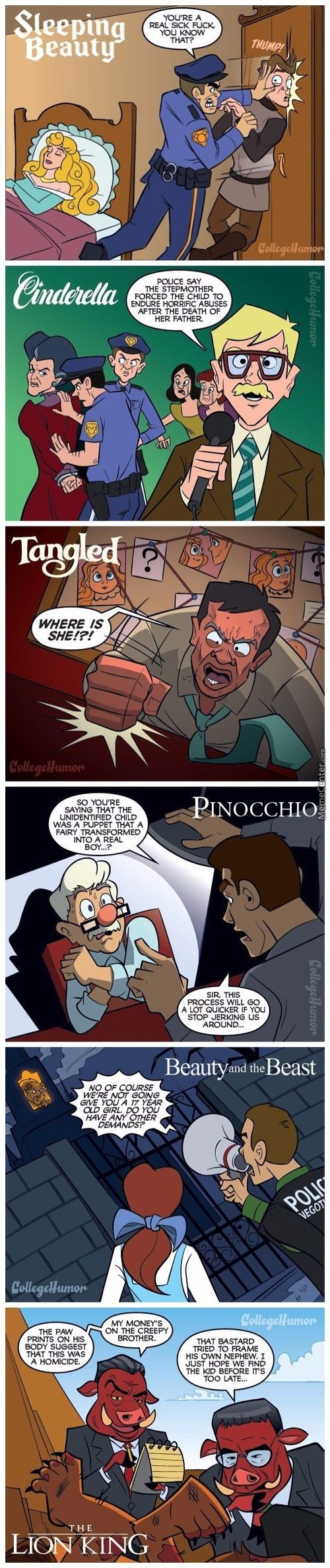 If Disney Movies Had Cops