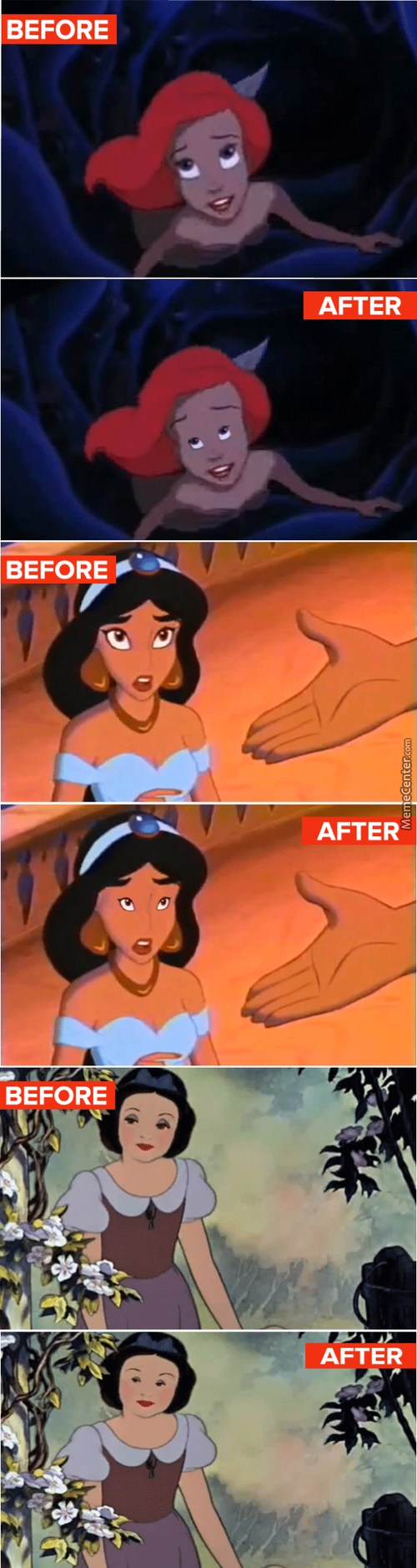 If Disney Princess Had Normel Sized Eyes