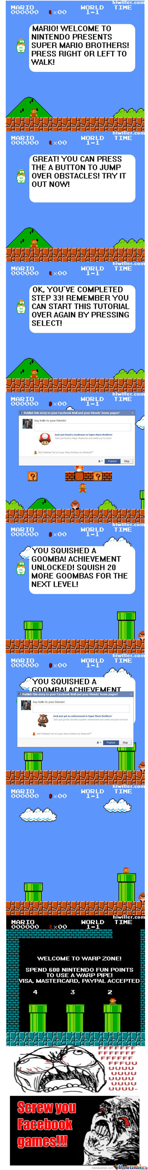 If Mario Bros. Becomes A Facebook Game