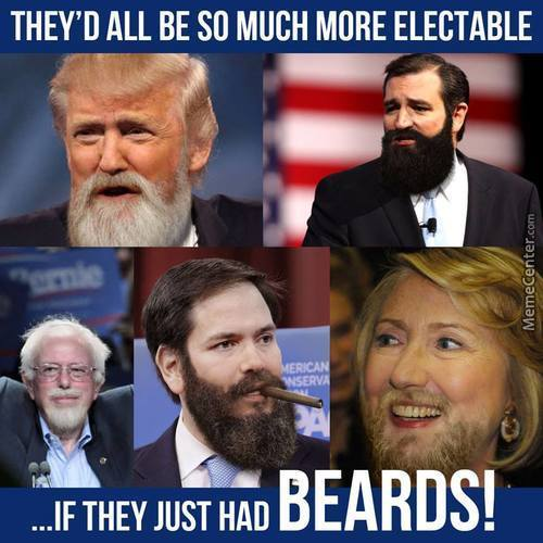 If Only United States Presidential Candidates Had Beards