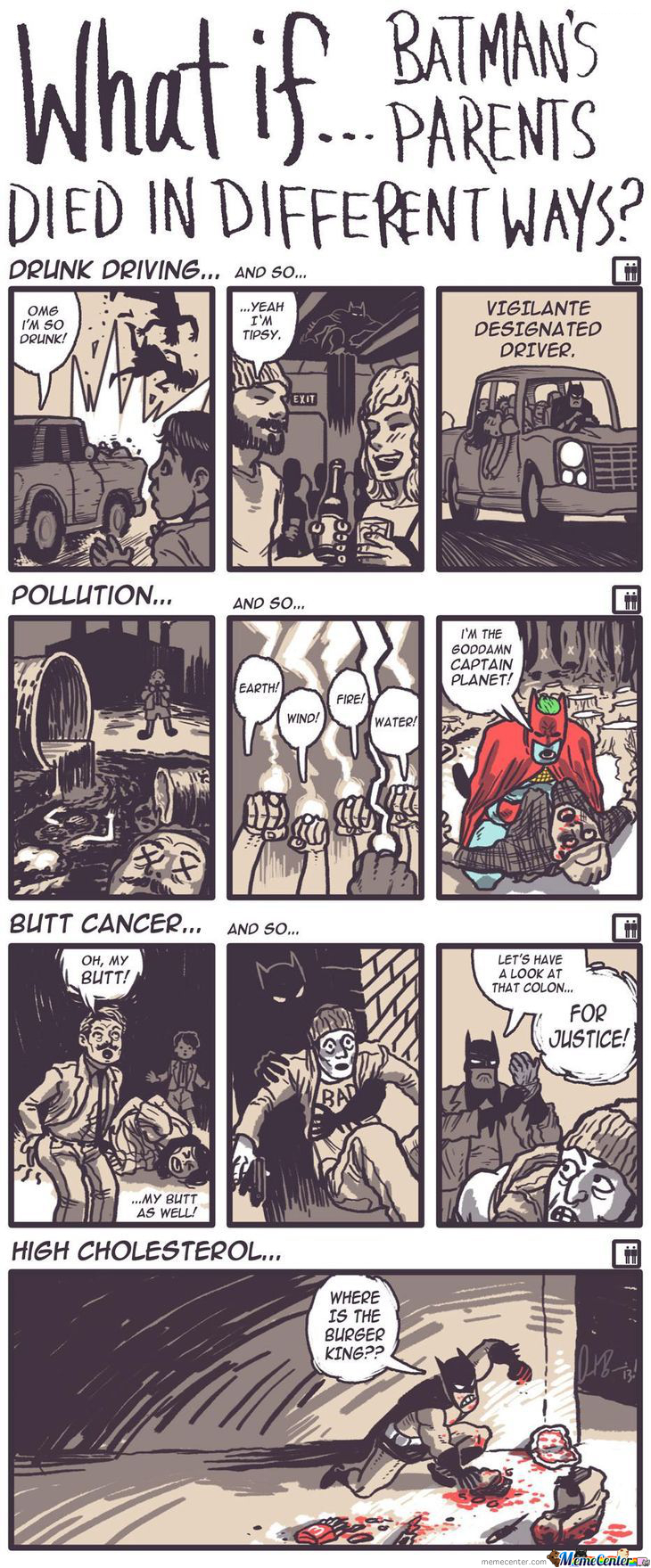 If The Parents Of Batman Had Died In Different Ways..