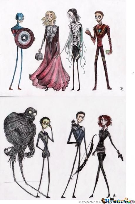 If Tim Burton Had Made The Avengers