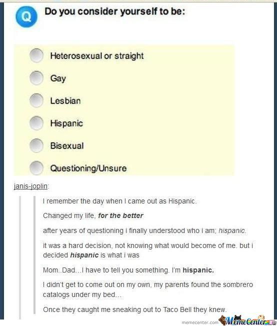 I'm Hispanic Too!