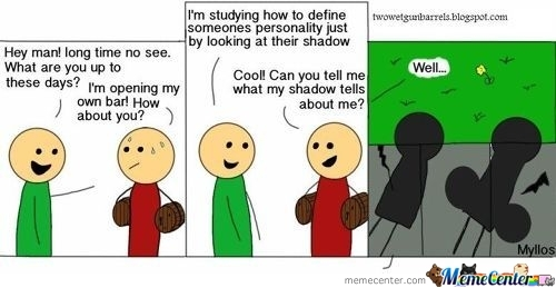 I'm Studying How To Define Someones Personality Just By Looking At Ther Shadow
