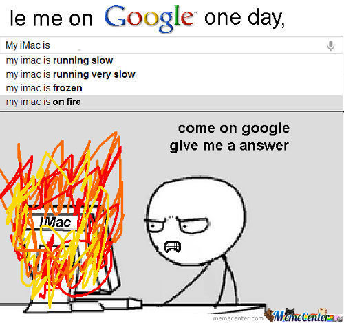 My imac is on fire