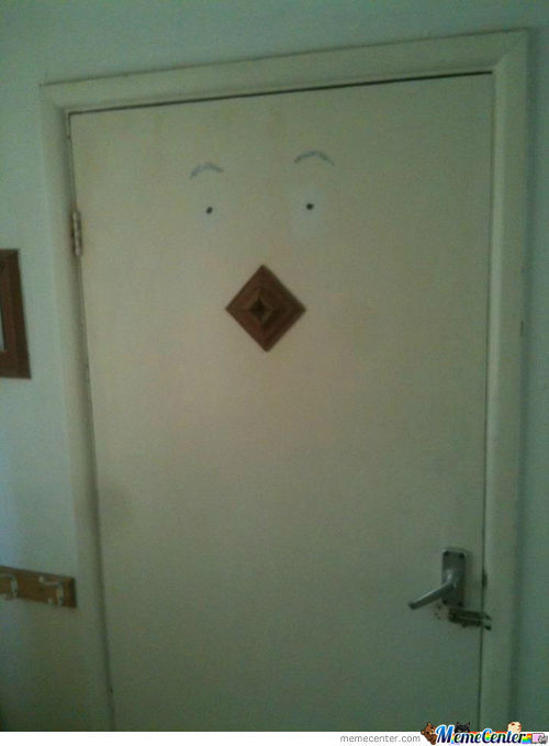 In My Bathroom. It Watches Me Shower. Actually Is Doorlan