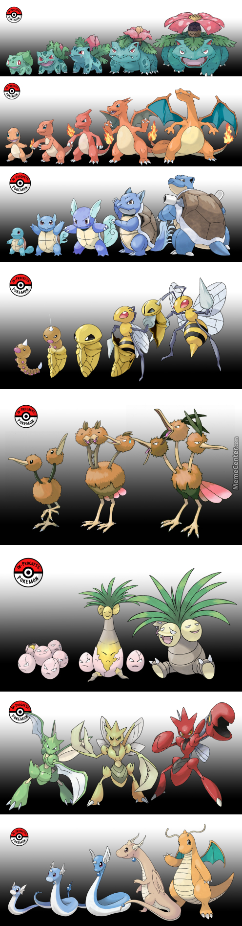 In-Progress Pokemon: What If Pokemon Didn't Evolve All At Once?