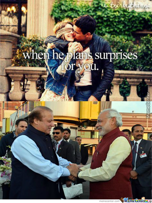 Indian Pm Surprise Visits Pakistan, First Time In Years That An Indian Pm Has Visited