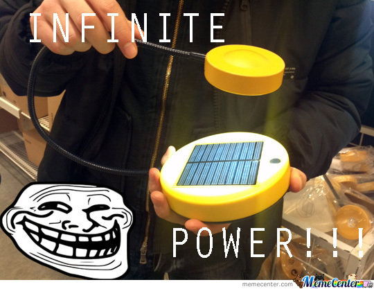 Infinite Power Solar Cell Lamp
